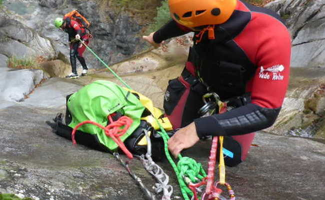 Canyoning fuer Profis