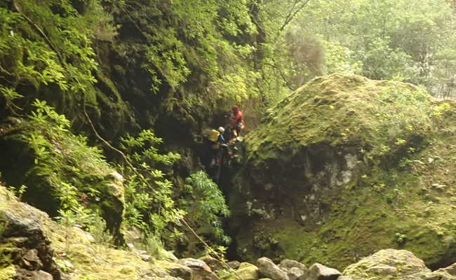 Canyoning in Seixal, Madeira